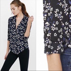 Express the portofino shirt slim fit daisy floral